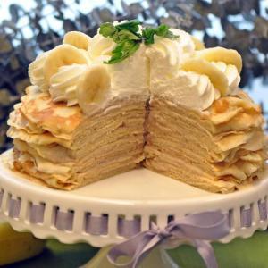 Banana Cream Crepe Cake